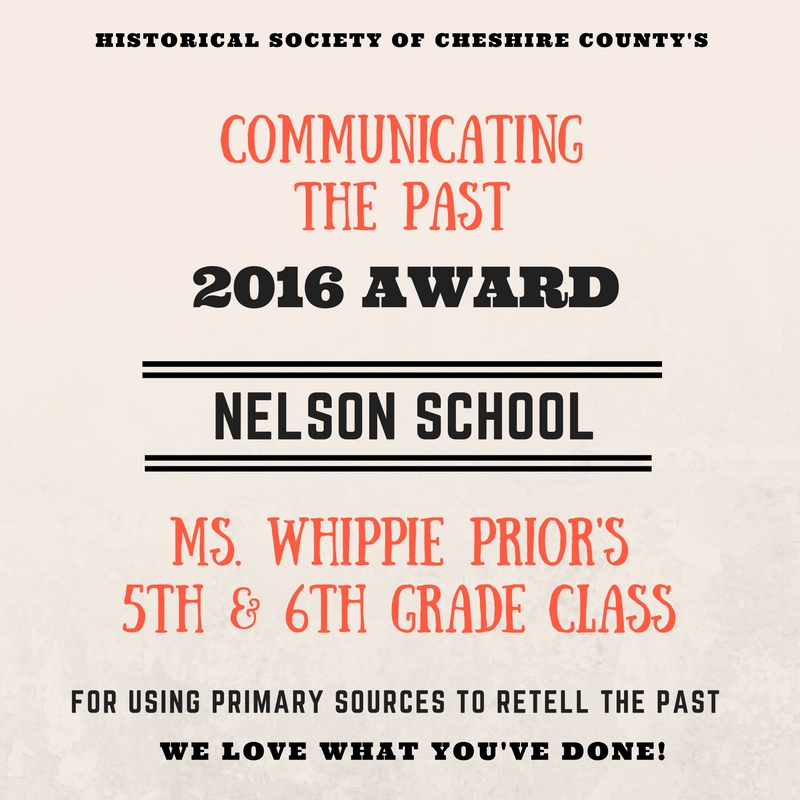 2016 School Award to Nelson School