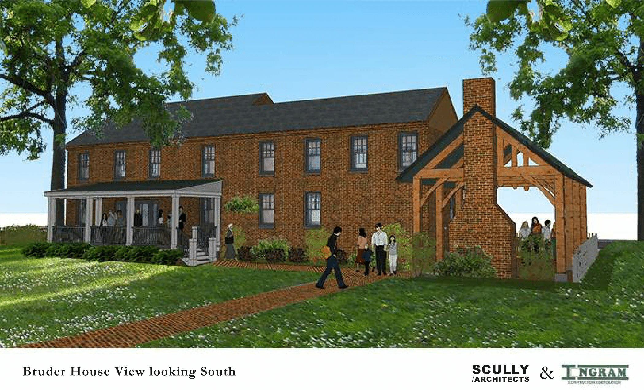 Bruder House rendering Looking South 2-1