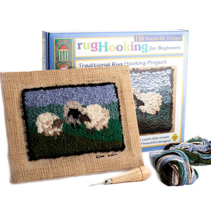 Sheep Traditional Rug Hooking Kit